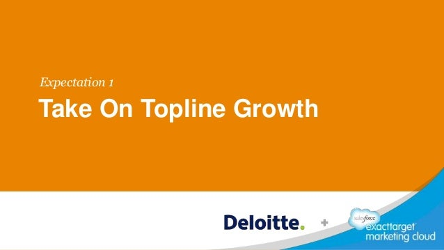 Take On Topline Growth Expectation 1