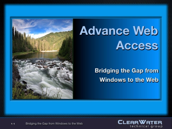 Advance Web                                                  Access                                                   Brid...