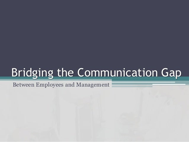 Bridging communication gap essay