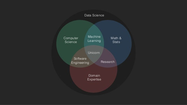 Math & Stats Computer Science Domain Expertise Machine Learning Software Engineering Research Unicorn Data Science