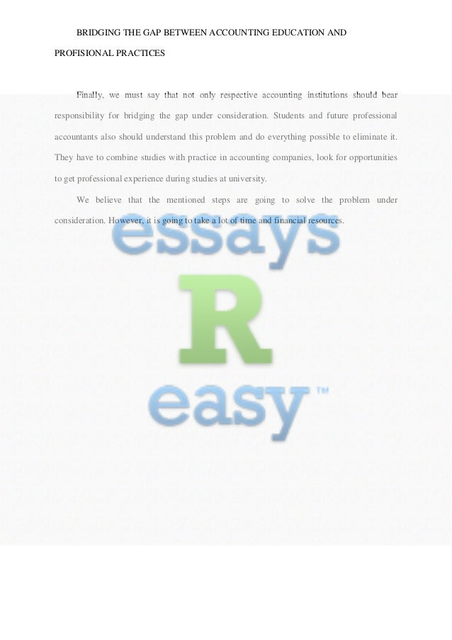 The education and healthcare gap essay