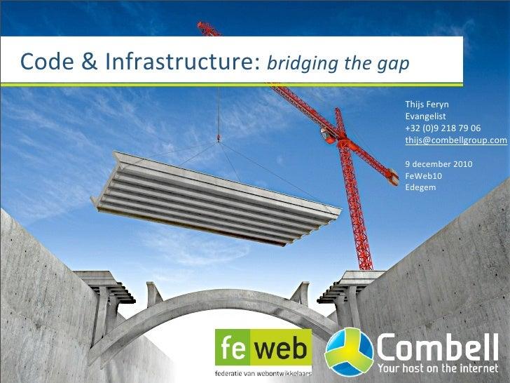 Code & Infrastructure: bridging the gap                                                     Thijs Feryn       ...