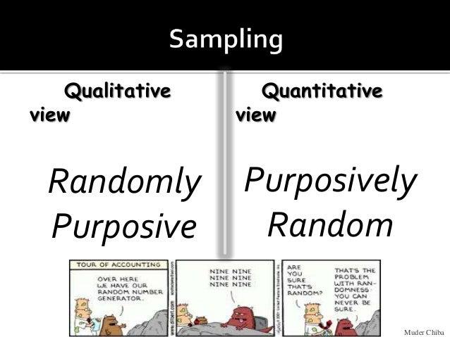 Qualitative view Randomly Purposive Quantitative view Purposively Random Muder Chiba