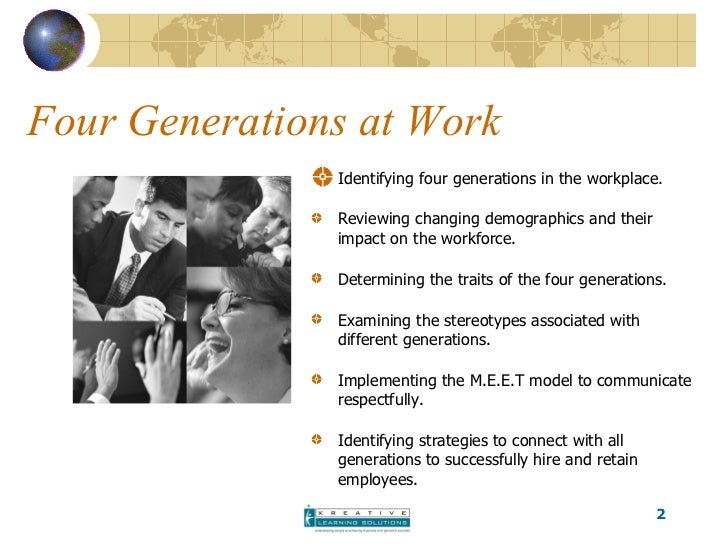 Bridging The Workplace Generational Gap Cchra Presentation ...