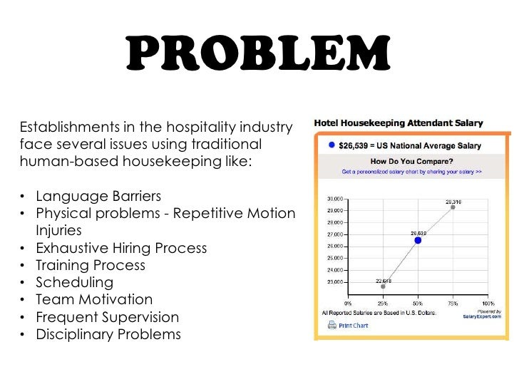 PROBLEMEstablishments in the hospitality industryface several issues using traditionalhuman-based housekeeping like:• Lang...