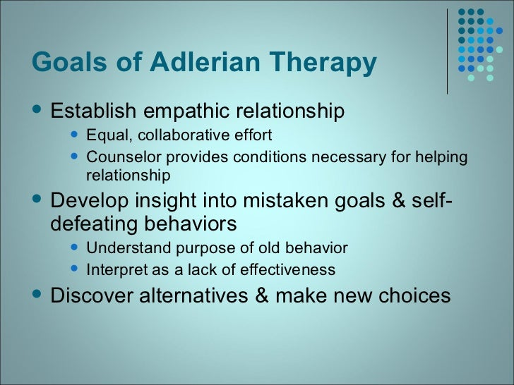 Alfred Adler: Theory and Application