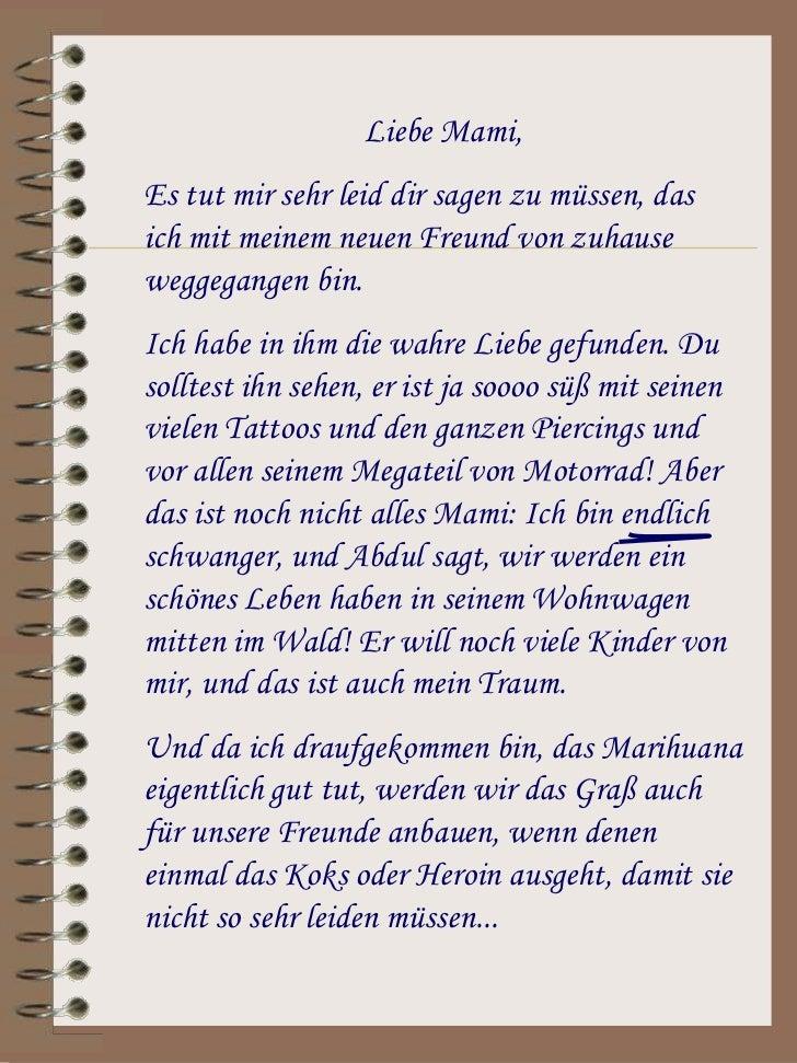 Brief Für Liebe : Brief an mama