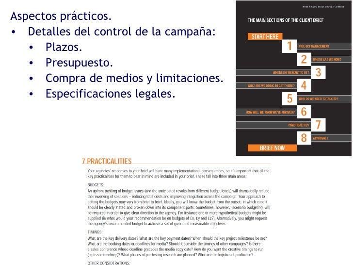 <ul><li>Aspectos prácticos. </li></ul><ul><li>Detalles del control de la campaña: </li></ul><ul><ul><li>Plazos. </li></ul>...