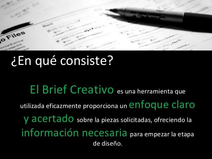 estrategia de solucin el brief creativo