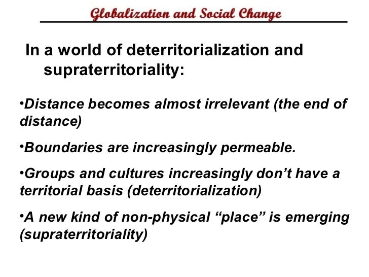 defining globalization I would argue that globalization is an ideologically-based and driven concept and is essentially a meta-narrative that is used to justify the desires of some powerful.