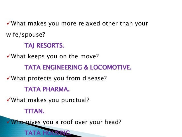 Brief details about Tata group