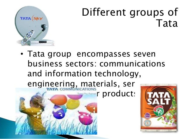 TATA GROUP  • Tata group has spread itself in various sectors:- they  are   ENGINEERING:- Tata products, Voltas consumer ...