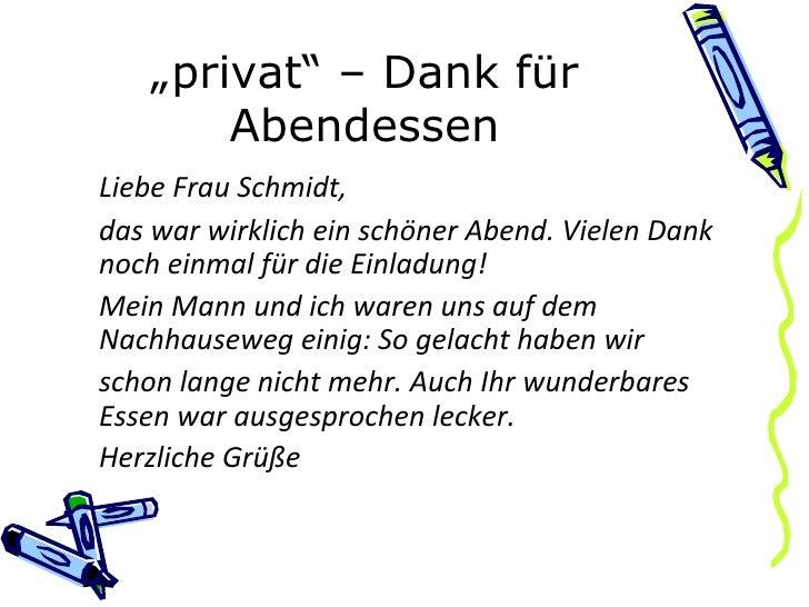 ... 13. U201e Privatu201c U2013 Dank Für ...