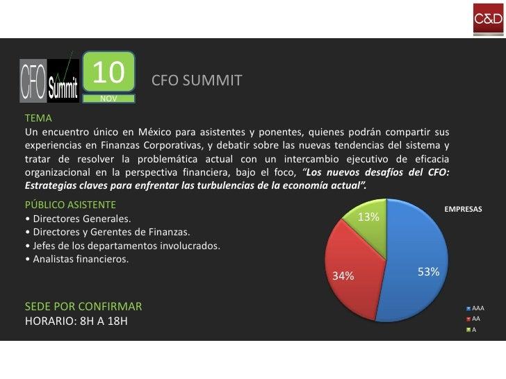 10           CFO SUMMIT                 NOV  TEMA Un encuentro único en México para asistentes y ponentes, quienes podrán ...