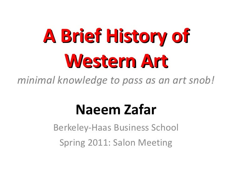 Brief history of art spring 2011