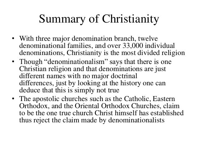 divided christianity what went wrong essay What do christians believe god says it is wrong the point i would love all christians to know is that christianity is not about competition.