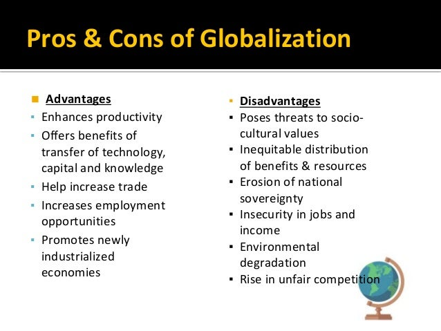 Essay pros and cons of globalization