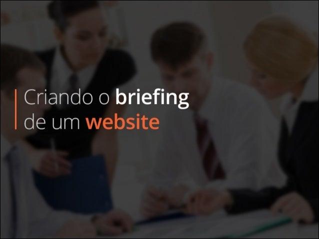 Criando o briefing de um website