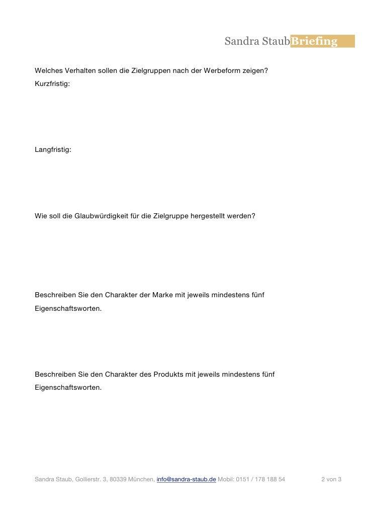Briefing Fragebogen
