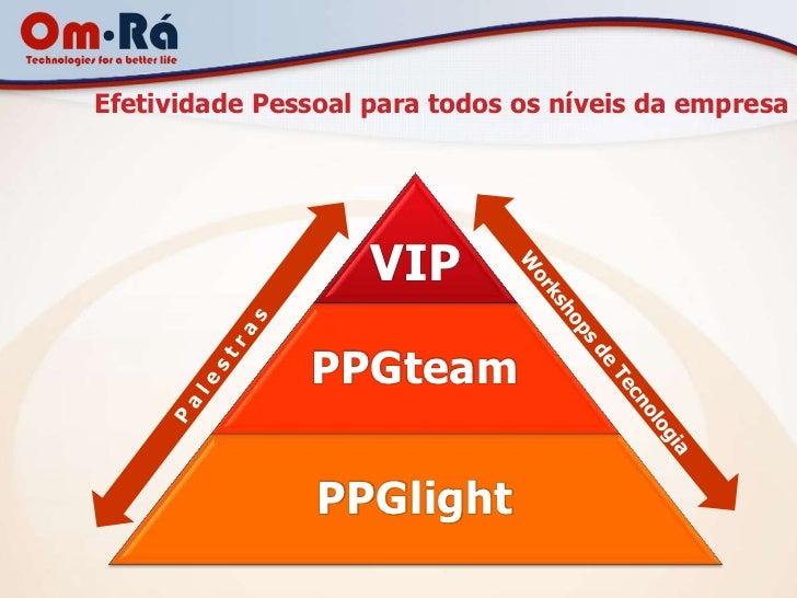 Efetividade Pessoal para todos os níveis da empresa                    VIP               PPGteam                PPGlight