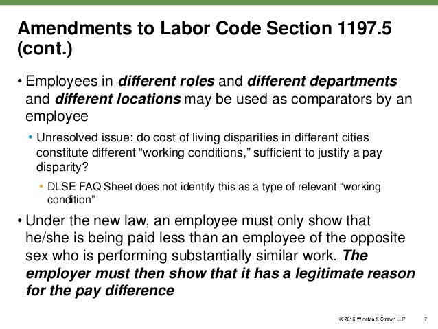 discrimination regarding fair wages Existing law authorizes an employee paid lesser wages in violation of these prohibitions to file a complaint with the division of labor standards enforcement, and authorizes the employee, the division, or the department of industrial relations to commence a civil action for the wages the.