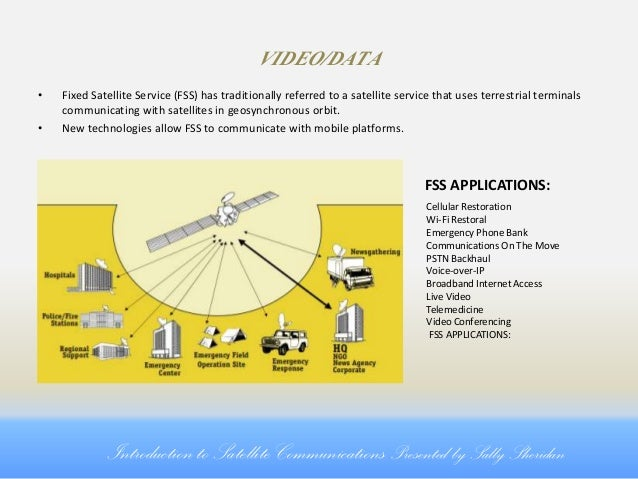 introduction to satellites Satellite links are the means of communications between a spacecraft and control systems here on earth by definition, these are rf (radio frequency) links.