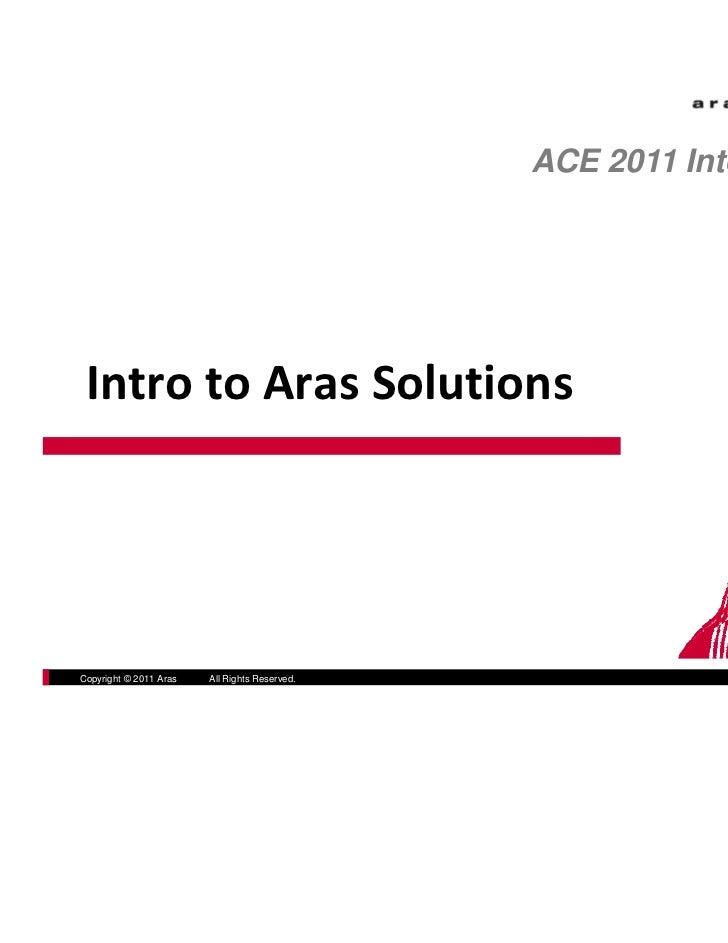 ACE 2011 International IntrotoArasSolutions                                                            300Brickstone S...