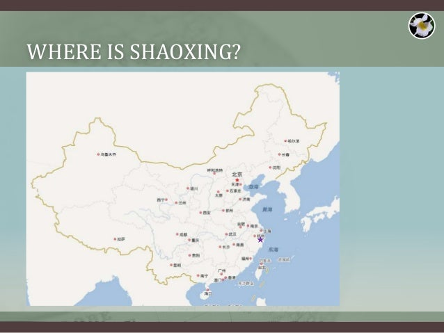 Brief Intro To Shaoxing - Shaoxing map