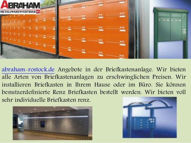 abraham-rostock.de Angebote in der Briefkastenanlage. Wir bieten  alle Arten von Briefkastenanlagen zu erschwinglichen Pre...