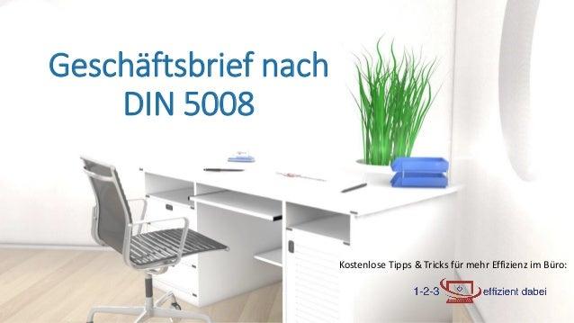 Kostenlose Tipps & Tricks für mehr Effizienz im Büro: Geschäftsbrief nach DIN 5008