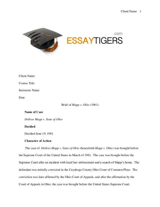essay on mapp v ohio