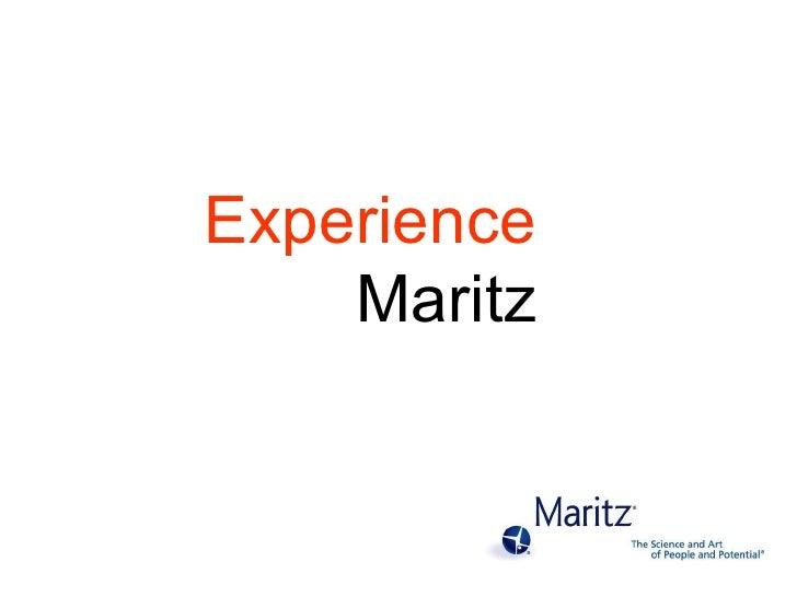 Experience  Maritz