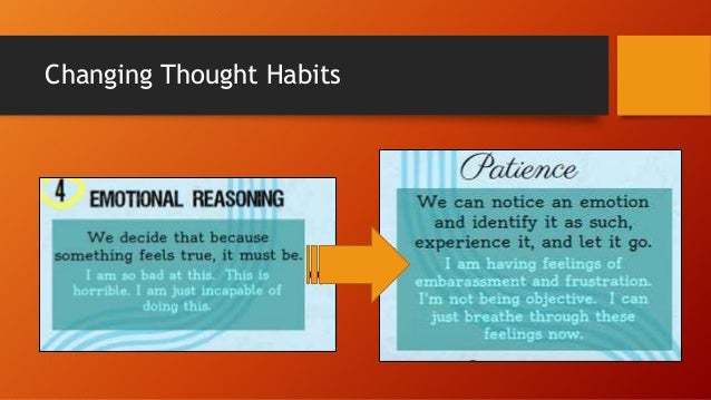 Changing Thought Habits