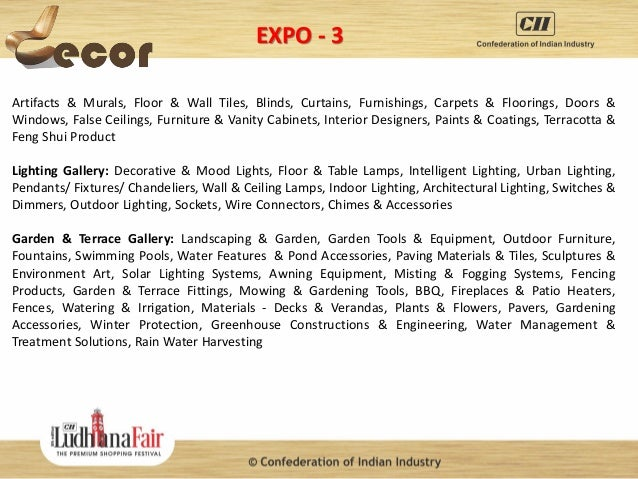 Brief presentation on cii ludhiana fair 2015 the premium for Kitchen 95 ludhiana