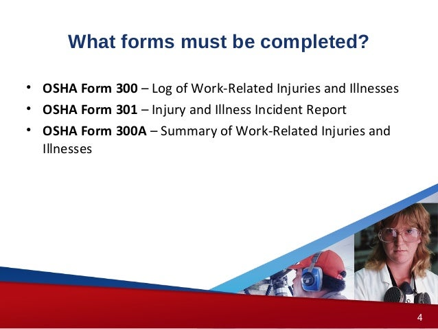What should be included in an OSHA Form 300 log summary?