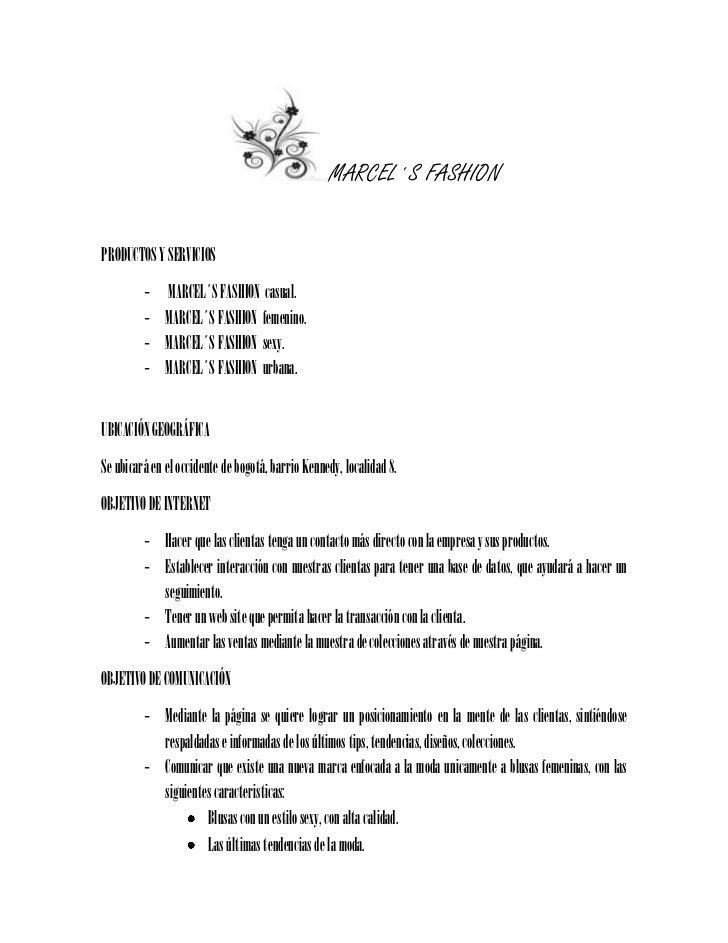 MARCEL´S FASHION<br />PRODUCTOS Y SERVICIOS<br /> MARCEL´S FASHION  casual.<br />MARCEL´S FASHION  femenino.<br />MARCEL´S...