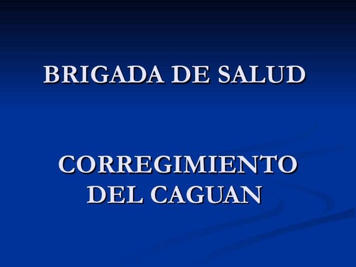 BRIGADA DE SALUD  CORREGIMIENTO DEL CAGUAN