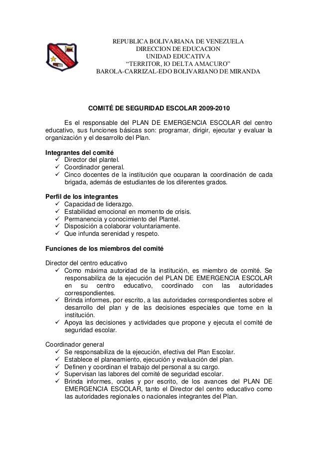 """REPUBLICA BOLIVARIANA DE VENEZUELA DIRECCION DE EDUCACION UNIDAD EDUCATIVA """"TERRITOR, IO DELTA AMACURO"""" BAROLA-CARRIZAL-ED..."""