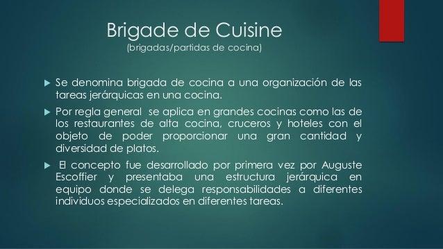 Brigadas de cocina for Estructura de una cocina de restaurante