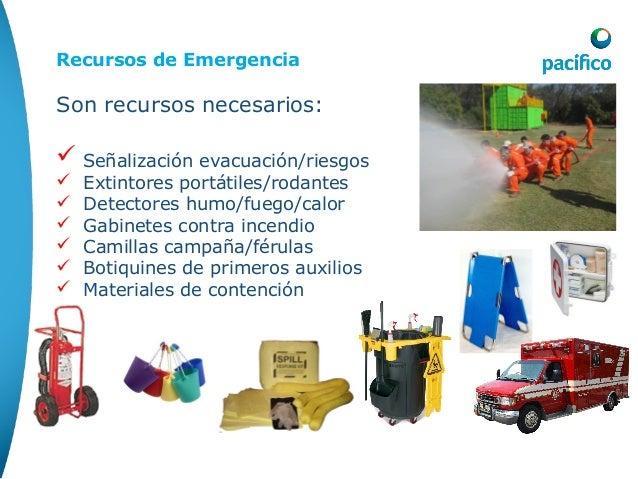 Asignación de Recursos: Recursos de Emergencia Son recursos necesarios:  Señalización evacuación/riesgos  Extintores por...