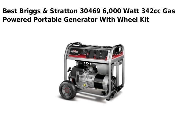 Briggs stratton 30469 6000 watt 342cc gas powered portable
