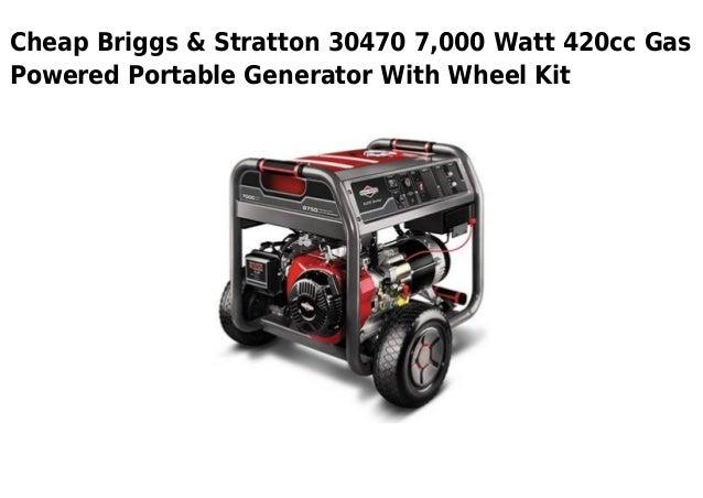 Briggs stratton 30470 7000 watt 420cc gas powered portable