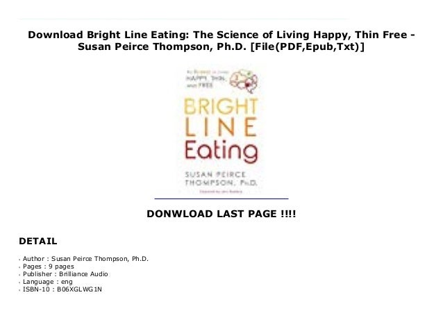 bright line eating pdf free download