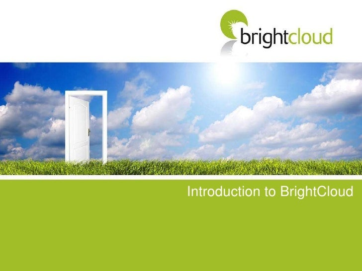 Introduction to BrightCloud<br />