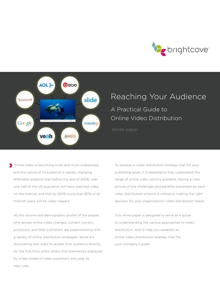 Reaching Your Audience                                                              A Practical Guide to                  ...