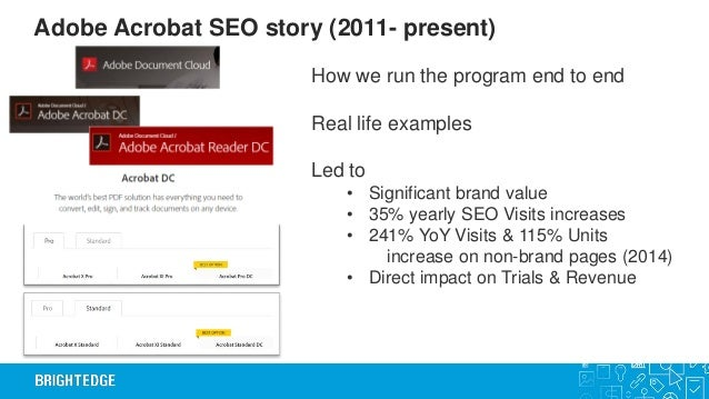 BrightEdge webinar on winning with Search