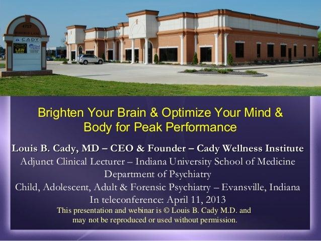 Louis B. Cady, MD – CEO & Founder – Cady Wellness InstituteLouis B. Cady, MD – CEO & Founder – Cady Wellness InstituteAdju...