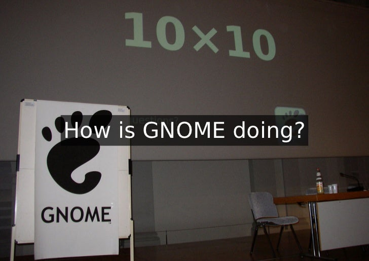 How is GNOME doing?