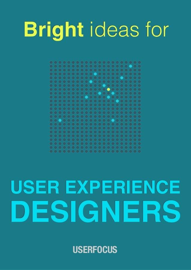Kết quả hình ảnh cho Bright_Ideas_for_UX_Designers