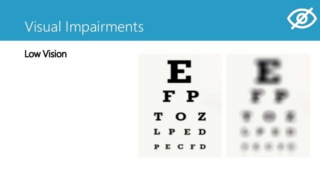 Visual Impairments Low Vision Blindness